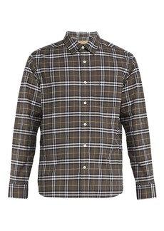 Burberry George checked cotton-blend shirt