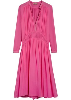 Burberry georgette gathered dress - Pink & Purple