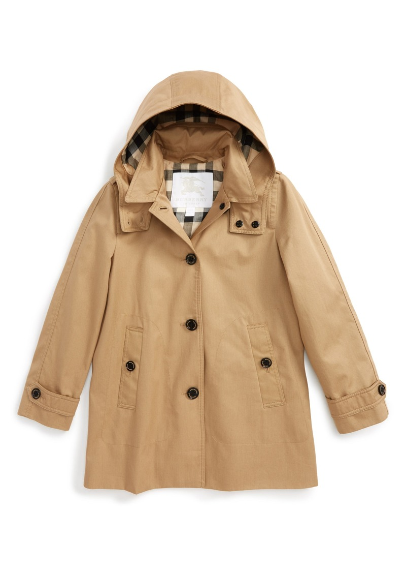 c77a8c1eb Burberry Burberry Geri Update Hooded Rain Jacket (Little Girls & Big ...