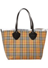 Burberry Giant Reversible Vintage Check & Leather Tote