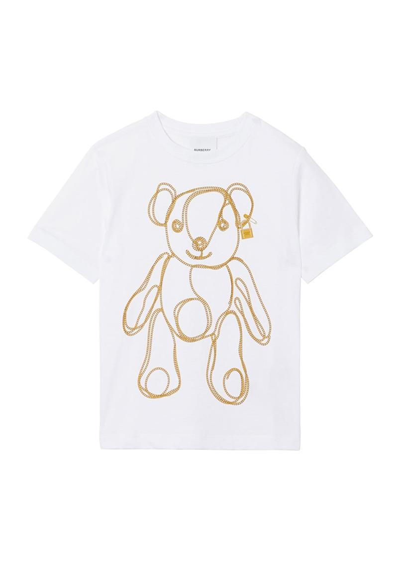 Burberry Girl's Chain Bear Short-Sleeve Tee  Size 3-14