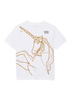 Burberry Girl's Chain Unicorn Short-Sleeve Tee  Size 3-14