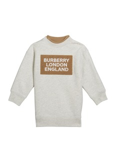Burberry Girl's Fabbio Sweatshirt Dress w/ Logo Patches  Size 12M-2
