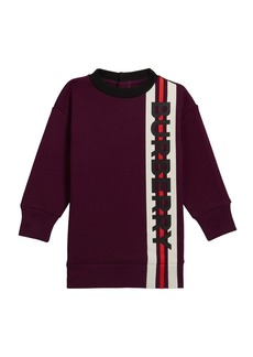 Burberry Girl's Letisha Striped Logo Sweatshirt Dress  Size 6M-2