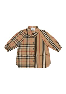 Burberry Girl's Mini Teigan Check & Icon Stripe Dress  Size 6M-2