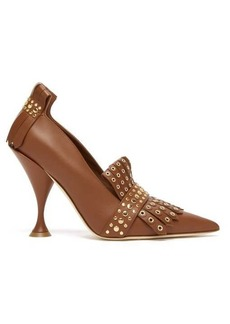Burberry Goodall studded leather pumps