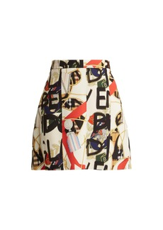 Burberry Graffiti archive print silk-blend mini skirt