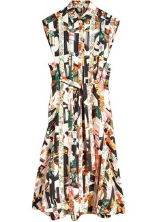 Burberry Graffiti Archive Scarf Print Silk Shirt Dress - Multicolour