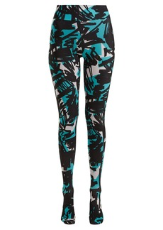 Burberry Graffiti-print footed leggings