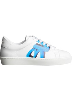 Burberry Graffiti Print Leather Sneakers - White