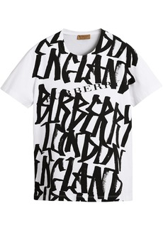 Burberry Graffiti Print T-shirt - White