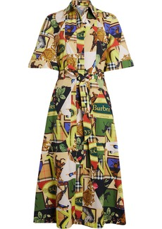 Burberry Graffitied Archive Scarf Print Shirt Dress - Multicolour