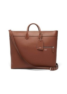 Burberry Grained-leather tote bag