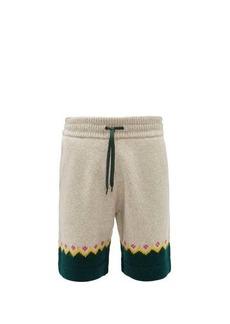 Burberry Gunley Fair-Isle wool shorts