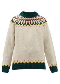 Burberry Gunner Fair-Isle wool-blend sweater