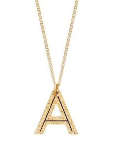 Burberry Hammered A-charm gold-plated necklace