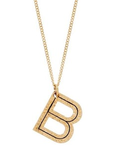 Burberry Hammered B-charm gold-plated necklace