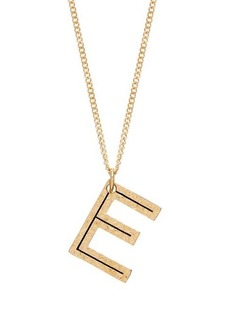 Burberry Hammered E-charm gold-plated necklace