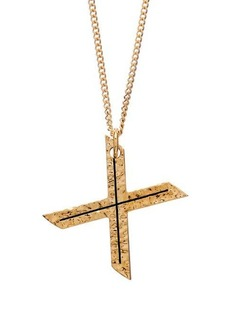 Burberry Hammered letter-pendant gold-plated necklace