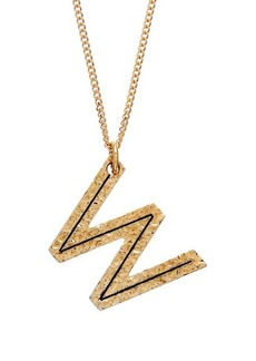 Burberry Hammered W-charm gold-plated necklace