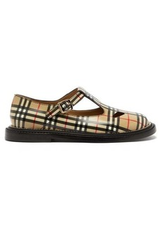 Burberry Hannie T-bar Vintage check leather shoes