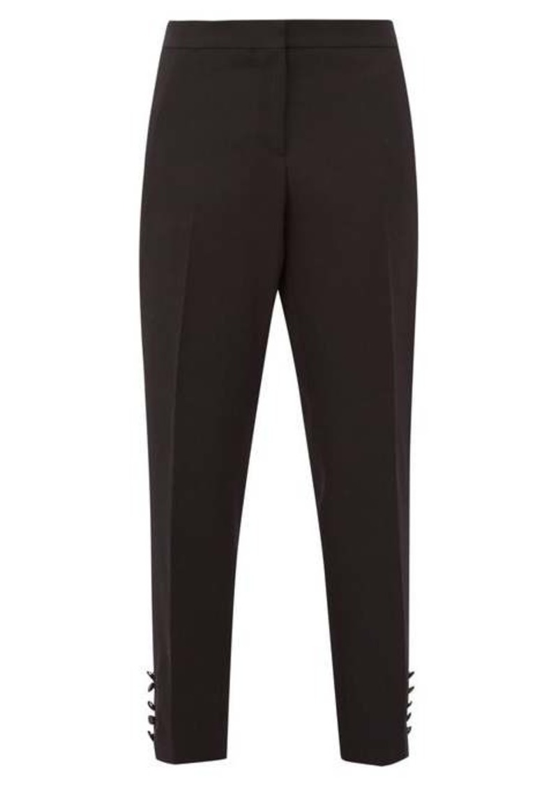 Burberry Hanover buttoned-cuff wool-crepe tuxedo trousers