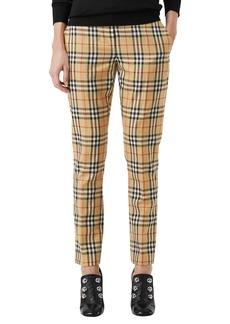 Burberry Hanover Plaid Wool Cigarette Pants