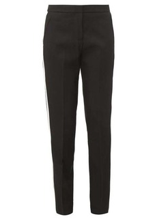 Burberry Hanover tailored satin-stripe wool trousers