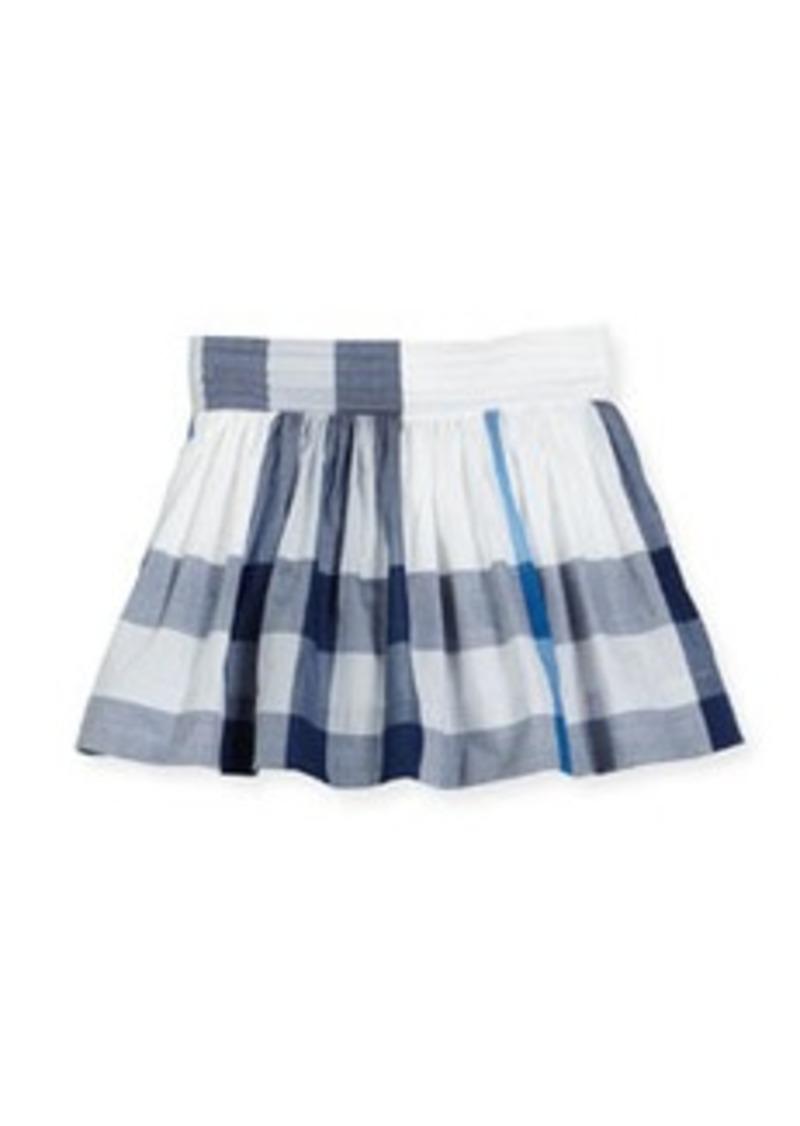 Burberry Hayley Smocked Check Mini Skirt