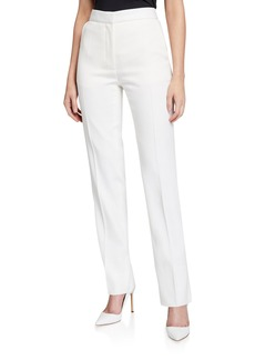 Burberry High-Rise Tux-Striped Tailored Trousers