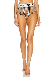 Burberry High Waisted Bikini Bottom