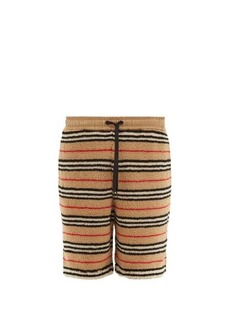 Burberry Holwell Icon-striped fleece basketball shorts