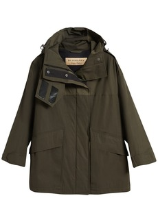 Burberry Hooded Parka with Quilted Lining - Green