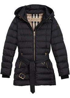 Burberry hooded puffer jacket - Blue