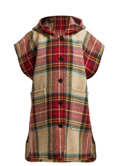 Burberry Hopefield tartan wool hooded cape