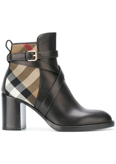 Burberry House Check ankle boots - Brown