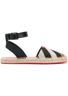 Burberry house check espadrilles - Brown