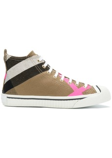 Burberry house check hi-top sneakers - Nude & Neutrals