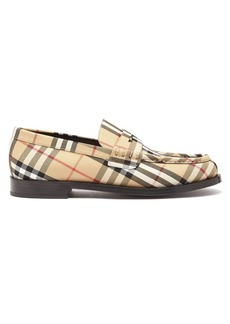 Burberry House-check leather loafers