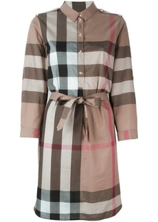 Burberry Check Cotton Shirt Dress - Multicolour