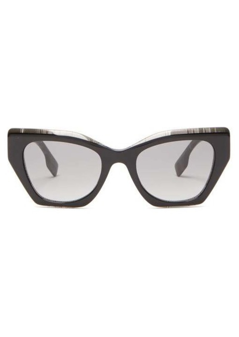 Burberry House Check square cat-eye acetate sunglasses