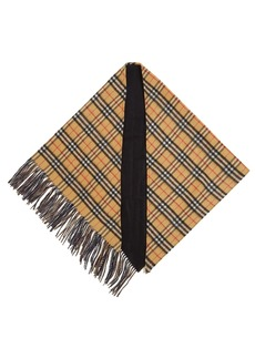 Burberry House-checked cashmere scarf