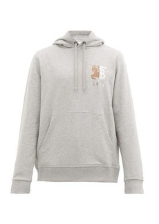 Burberry Hunter logo-embroidered cotton hooded sweatshirt