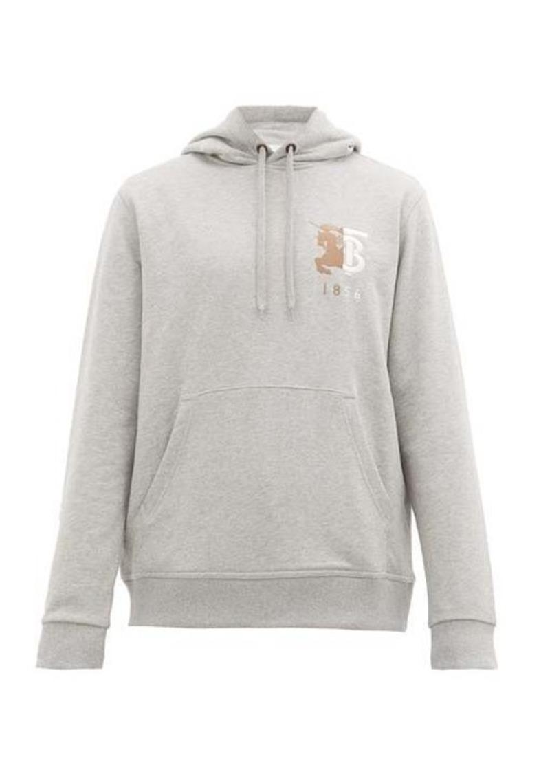 Burberry Hunter logo-embroidered cotton hooded sweatshirt