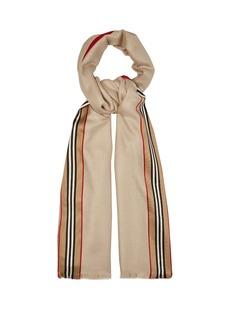 Burberry Icon stripe cashmere-blend scarf