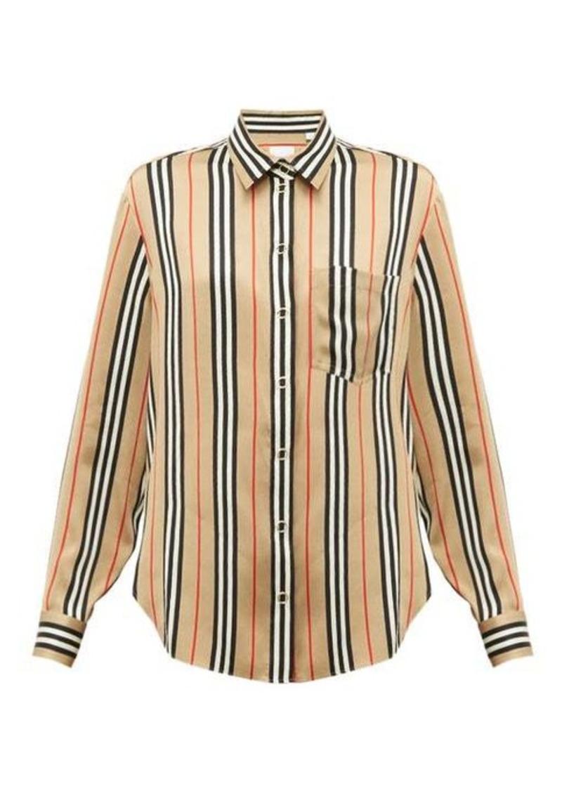 Burberry Icon-stripe silk shirt