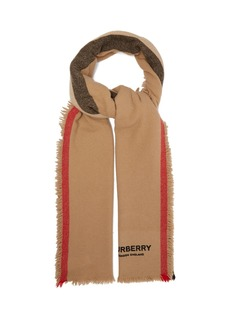 Burberry Icon stripe wool-blend scarf