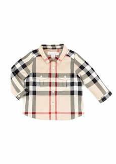 Burberry Infant Boys' Check Long-Sleeve Shirt