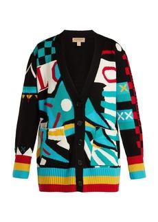 Burberry Intarsia-knit merino wool-blend cardigan
