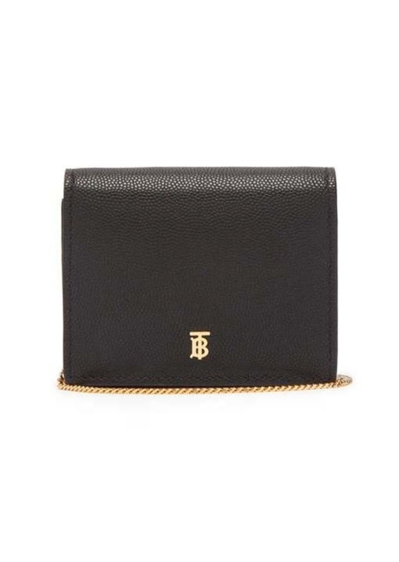 Burberry Jade TB grained-leather wallet